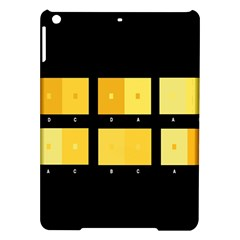 Horizontal Color Scheme Plaid Black Yellow Ipad Air Hardshell Cases by Mariart