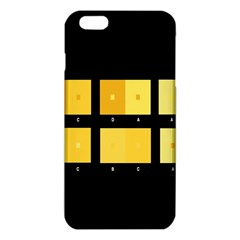 Horizontal Color Scheme Plaid Black Yellow Iphone 6 Plus/6s Plus Tpu Case by Mariart