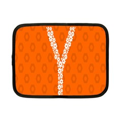 Iron Orange Y Combinator Gears Netbook Case (small)  by Mariart