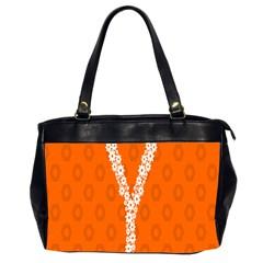Iron Orange Y Combinator Gears Office Handbags (2 Sides)  by Mariart