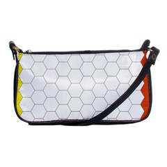 Hex Grid Plaid Green Yellow Blue Orange White Shoulder Clutch Bags by Mariart