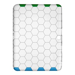 Hex Grid Plaid Green Yellow Blue Orange White Samsung Galaxy Tab 4 (10 1 ) Hardshell Case  by Mariart