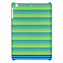 Line Horizontal Green Blue Yellow Light Wave Chevron Apple Ipad Mini Hardshell Case by Mariart