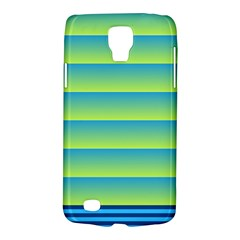 Line Horizontal Green Blue Yellow Light Wave Chevron Galaxy S4 Active by Mariart