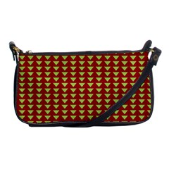 Hawthorn Sharkstooth Triangle Green Red Full Shoulder Clutch Bags by Mariart