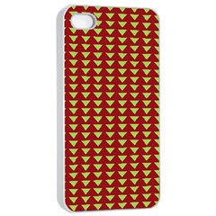 Hawthorn Sharkstooth Triangle Green Red Full Apple Iphone 4/4s Seamless Case (white) by Mariart