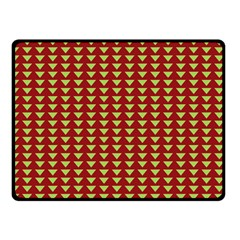 Hawthorn Sharkstooth Triangle Green Red Full Double Sided Fleece Blanket (small)  by Mariart