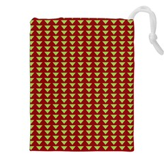 Hawthorn Sharkstooth Triangle Green Red Full Drawstring Pouches (xxl) by Mariart