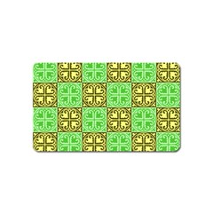 Clipart Aztec Green Yellow Magnet (name Card) by Mariart