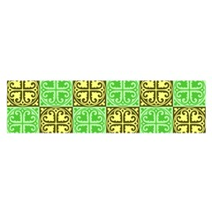 Clipart Aztec Green Yellow Satin Scarf (oblong) by Mariart