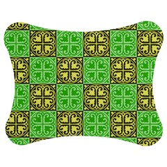 Clipart Aztec Green Yellow Jigsaw Puzzle Photo Stand (bow) by Mariart