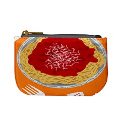 Instant Noodles Mie Sauce Tomato Red Orange Knife Fox Food Pasta Mini Coin Purses by Mariart