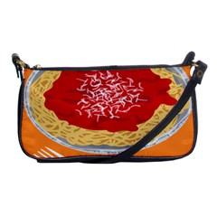 Instant Noodles Mie Sauce Tomato Red Orange Knife Fox Food Pasta Shoulder Clutch Bags by Mariart
