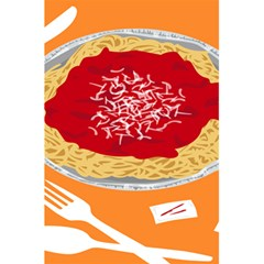 Instant Noodles Mie Sauce Tomato Red Orange Knife Fox Food Pasta 5 5  X 8 5  Notebooks by Mariart