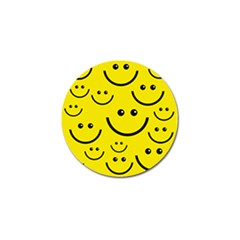 Linus Smileys Face Cute Yellow Golf Ball Marker by Mariart