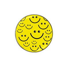 Linus Smileys Face Cute Yellow Hat Clip Ball Marker by Mariart