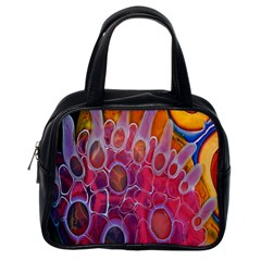 Micro Macro Belle Fisher Nature Stone Classic Handbags (one Side) by Mariart
