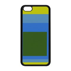 Plaid Green Blue Yellow Apple Iphone 5c Seamless Case (black) by Mariart