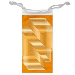 Orange Line Plaid Jewelry Bag by Mariart