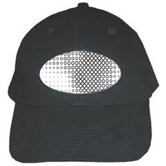 Polka Circle Round Black White Hole Black Cap by Mariart