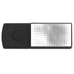 Polka Circle Round Black White Hole Usb Flash Drive Rectangular (4 Gb) by Mariart