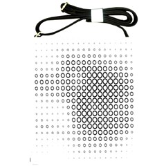 Polka Circle Round Black White Hole Shoulder Sling Bags by Mariart