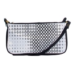 Polka Circle Round Black White Hole Shoulder Clutch Bags by Mariart