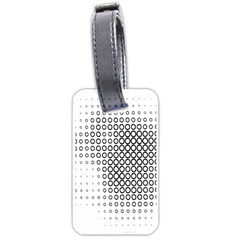 Polka Circle Round Black White Hole Luggage Tags (one Side)  by Mariart