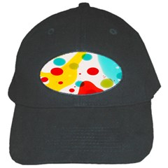 Polkadot Color Rainbow Red Blue Yellow Green Black Cap by Mariart