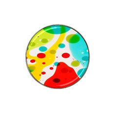 Polkadot Color Rainbow Red Blue Yellow Green Hat Clip Ball Marker (10 Pack) by Mariart