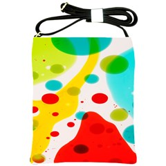 Polkadot Color Rainbow Red Blue Yellow Green Shoulder Sling Bags by Mariart