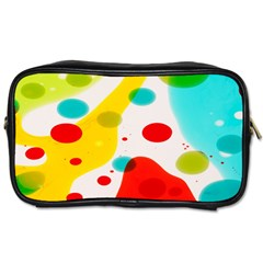 Polkadot Color Rainbow Red Blue Yellow Green Toiletries Bags 2 Side by Mariart
