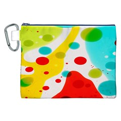 Polkadot Color Rainbow Red Blue Yellow Green Canvas Cosmetic Bag (xxl) by Mariart