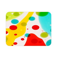 Polkadot Color Rainbow Red Blue Yellow Green Double Sided Flano Blanket (mini)  by Mariart