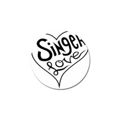 Singer Love Sign Heart Golf Ball Marker (10 Pack) by Mariart