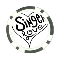 Singer Love Sign Heart Poker Chip Card Guard (10 Pack) by Mariart
