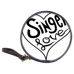 Singer Love Sign Heart Classic 20 Cd Wallets by Mariart