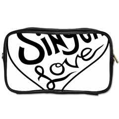 Singer Love Sign Heart Toiletries Bags 2 Side by Mariart