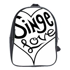 Singer Love Sign Heart School Bags (xl)  by Mariart