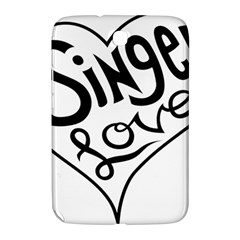 Singer Love Sign Heart Samsung Galaxy Note 8 0 N5100 Hardshell Case  by Mariart