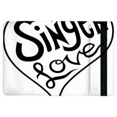 Singer Love Sign Heart Ipad Air 2 Flip by Mariart