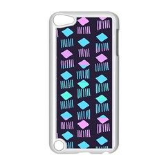 Polkadot Plaid Circle Line Pink Purple Blue Apple Ipod Touch 5 Case (white) by Mariart