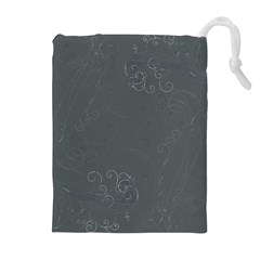 Floral Design Drawstring Pouches (extra Large) by ValentinaDesign
