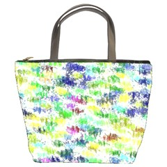 Paint On A White Background      Bucket Bag by LalyLauraFLM
