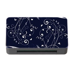 Floral Design Memory Card Reader With Cf by ValentinaDesign