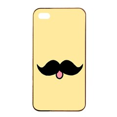 Mustache Apple Iphone 4/4s Seamless Case (black) by Nexatart