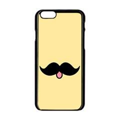 Mustache Apple Iphone 6/6s Black Enamel Case