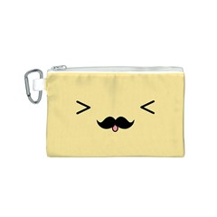 Mustache Canvas Cosmetic Bag (s) by Nexatart