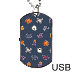 Kawaiieen Pattern Dog Tag Usb Flash (two Sides) by Nexatart