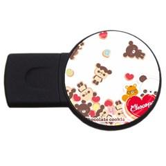 Chocopa Panda Usb Flash Drive Round (4 Gb) by Nexatart